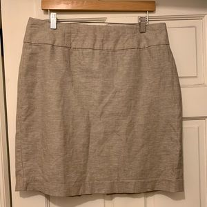 Banana Republic Linen Skirt NWOT Size 14
